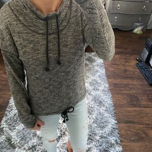 Aerie hoodie gray sweater pullover small